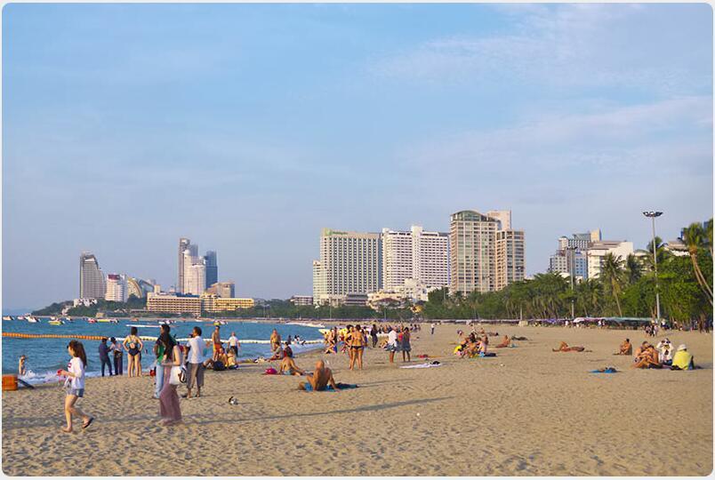 Pattaya's core beach