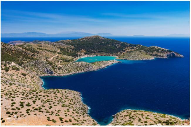 The island of Symi has picturesque scenery